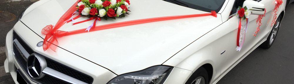 Décoration intérieur voiture mariage